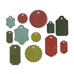 **PRE-ORDER** Sizzix - Thinlits Die Set by Tim Holtz - Gift Tags