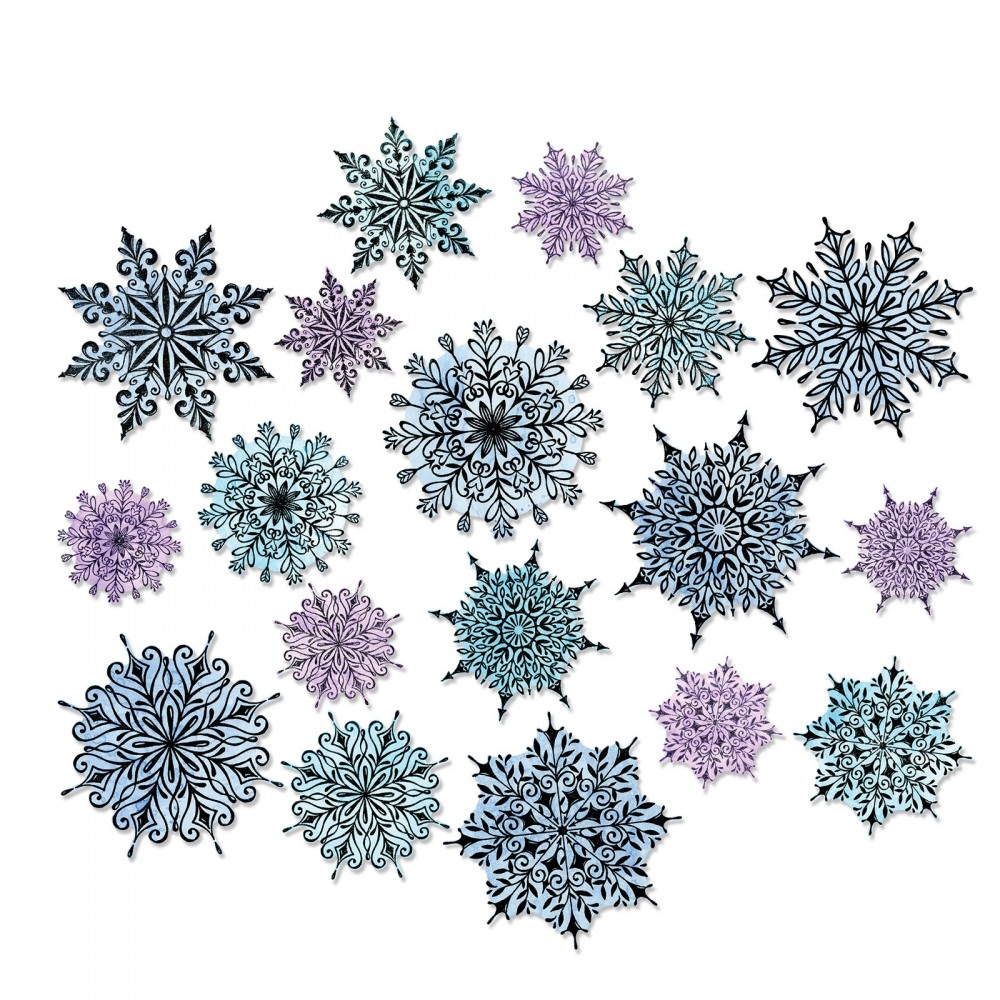 Sizzix - Tim Holtz Swirly Snowflakes & Tattered Christmas dies