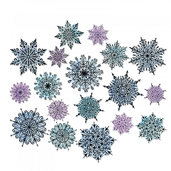Sizzix - Thinlits Die Set by Tim Holtz - Swirly Snowflakes (matches ST-CMS319 and ST-CMS320)