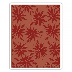 **PRE-ORDER** Sizzix - Texture Fades Embossing Folder by Tim Holtz - Poinsettias