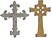 Sizzix Bigz Die - Ornate Crosses by Tim Holtz
