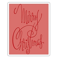 Sizzix - Texture Fades Embossing Folder by Tim Holtz - Fancy Christmas