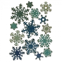 Sizzix - Thinlits Die Set by Tim Holtz - Mini Paper Snowflakes