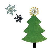 Sizzix - Bigz by Basic Grey - Nordic Holiday Tree, Snowflakes
