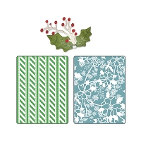Sizzix - Textured Impressions by Basic Grey - Nordic Holiday Alpine Pattern, Flowers