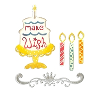 Sizzix Thinlits - Dies - by Rachael Bright - Birthday Candles, Cake & Crown