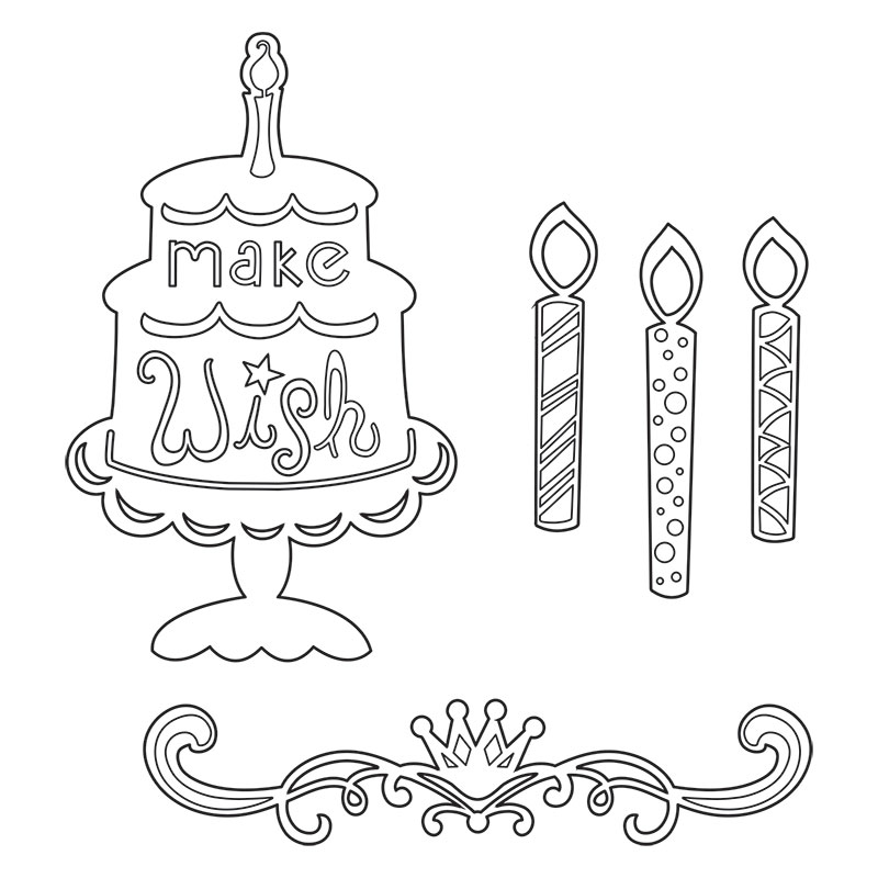 Single Birthday Candle Drawing | www.imgkid.com - The ...