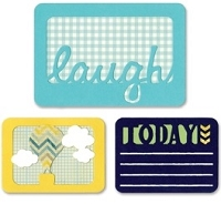 Sizzix Thinlits - Dies - by Rachael Bright - Life Made Simple - Laugh Today