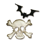 Sizzix - Movers & Shapers Die by Tim Holtz - Mini Bat & Skull