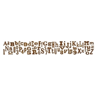 Sizzix Sizzlits Strip by Tim Holtz - Alphabetical (12 5/8