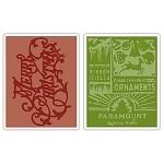 Sizzix Texture Fades by Tim Holtz - Merry Christmas & Vintage Holiday