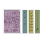 Sizzix Texture Fades by Tim Holtz - Halloween Background & Borders