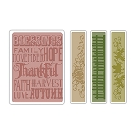 Sizzix Texture Fades by Tim Holtz - Thankful Background & Borders