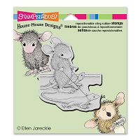 Stampendous - Cling Mounted Rubber Stamp - House Mouse Reptile Walk