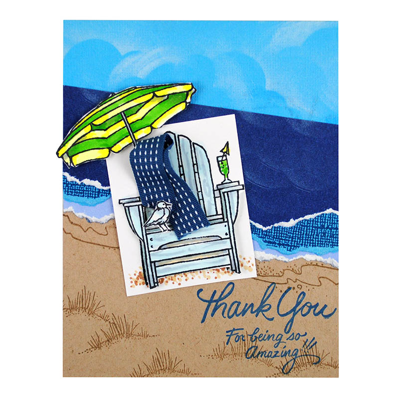 Stampendous Perfectly Clear Stamp Seaside Chair