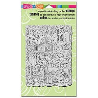 Stampendous Cling Mounted Rubber Stamps - Baby Background