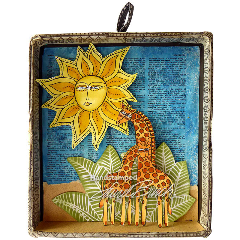 Stampendous Laurel Burch Cling Rubber Stamp Giraffes