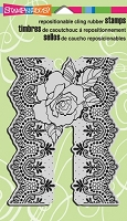 Stampendous Cling Mounted Rubber Stamps - Lace Rose