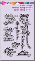 Stampendous Perfectly Clear Stamp - Rose Thoughts