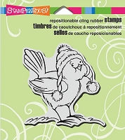 Stampendous Cling Mounted Rubber Stamps - Bird Knit Hat