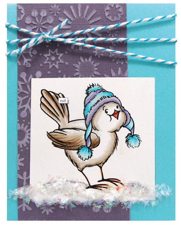 Stampendous Cling Mounted Rubber Stamps Bird Knit Hat