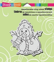 Stampendous Cling Mounted Rubber Stamps - Sweet Snowgirl