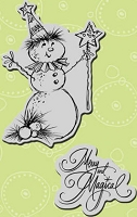Stampendous Cling Mounted Rubber Stamps - Merry Snowman Set