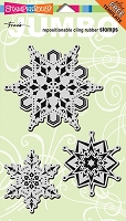 Stampendous Cling Mounted Rubber Stamps - Jumbo Snowflake Trio