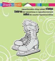Stampendous Cling Mounted Rubber Stamps - Ice Skates