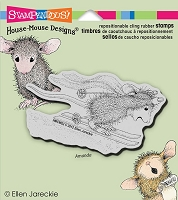 Stampendous Cling Mounted Rubber Stamps - House Mouse Designs - Ski Run