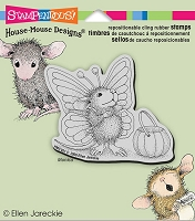 Stampendous Cling Mounted Rubber Stamps - House Mouse Designs - Monica Butterfly