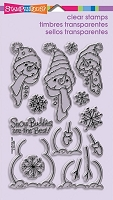 Stampendous Perfectly Clear Stamp - Build A Snowman