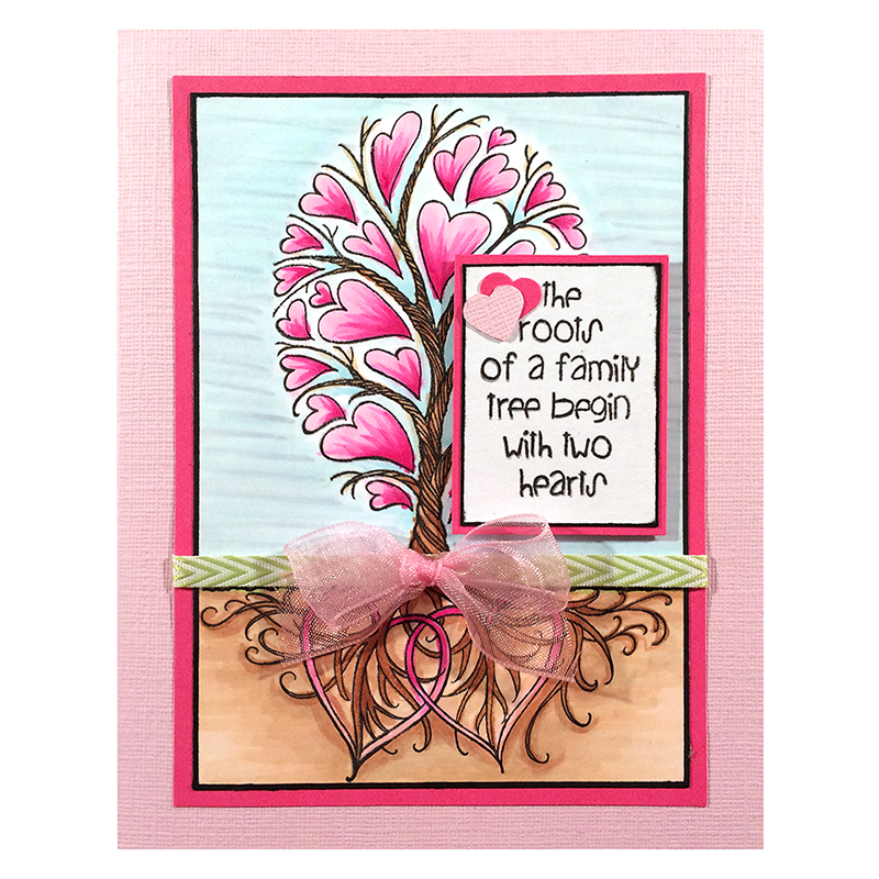 Stampendous Cling Mounted Rubber Stamps Roots Of Love