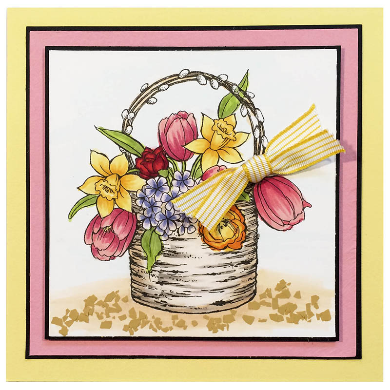 Stampendous Cling Mounted Rubber Stamps Birch Bouquet