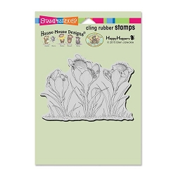 Stampendous Cling Mounted Rubber Stamps - House Mouse Designs - Crocus Nap Rubber Stamp