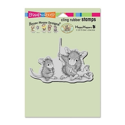 Stampendous Cling Mounted Rubber Stamps - House Mouse Designs - Teddy Mouse Mend Rubber Stamp
