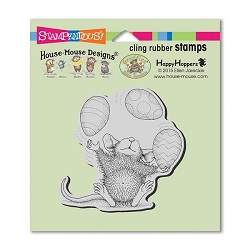 Stampendous Cling Mounted Rubber Stamps - House Mouse Designs - Easter Egg Juggle Rubber Stamp
