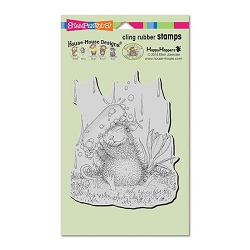 Stampendous Cling Mounted Rubber Stamps - House Mouse Designs - Soapy Smile Rubber Stamp