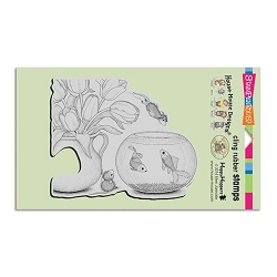 Stampendous Cling Mounted Rubber Stamps - House Mouse Designs - Fish Bowl Dive Rubber Stamp