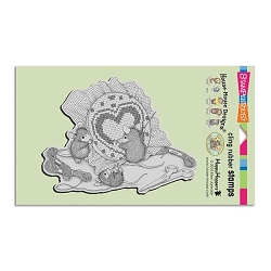 Stampendous Cling Mounted Rubber Stamps - House Mouse Designs - Cross Stitch Heart Rubber Stamp