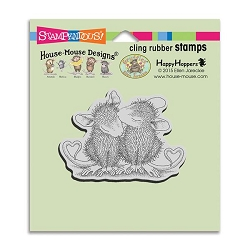 Stampendous Cling Mounted Rubber Stamps - House Mouse Designs - Valentine Kiss Rubber Stamp