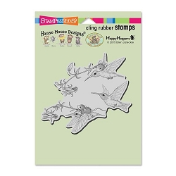 Stampendous Cling Mounted Rubber Stamps - House Mouse Designs - Fuchsia Flight Rubber Stamp