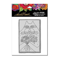 Stampendous - Laurel Burch - Cling Rubber A Bunch of Love