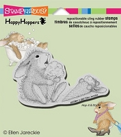 Stampendous Cling Mounted Rubber Stamp - House Mouse Happy Hopper Ice Cream Lick