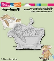 Stampendous Cling Mounted Rubber Stamp - House Mouse Happy Hopper Bubble Bath