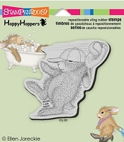 Stampendous Cling Mounted Rubber Stamp - House Mouse Happy Hopper Great Catch