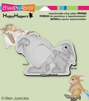 Stampendous Cling Mounted Rubber Stamp - House Mouse Happy Hopper Easter Bunny