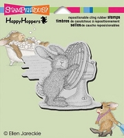 Stampendous Cling Mounted Rubber Stamp - House Mouse Happy Hopper Cool It