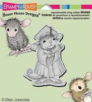 Stampendous Cling Mounted Rubber Stamp - House Mouse Graduate