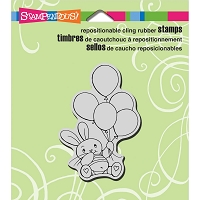 Stampendous Cling Mounted Rubber Stamps - Balloon Bunny